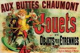 Reclameposter speelgoed, Franse tekst: Jouets Print