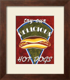 Hot Dogs Posters by Catherine Jones