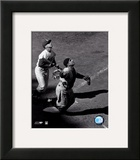 Yogi Berra - catching action / sepia Prints