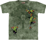 Peace Tree Frog Shirts