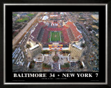 Superbowl XXXV Ravens-Giants at Tampa Bay Prints by Mike Smith