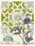 Antique Garden Plan Poster by Devon Ross