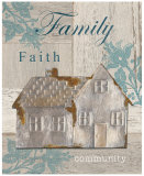 Family, Faith, Community Print by Sam Appleman