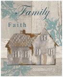 Family, Faith, Community Print by Sam Appleman
