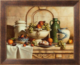 Italian Still Life with Green Grapes Prints by Loran Speck