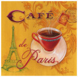 Paris Cafe Prints by Angela Staehling