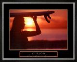 Vision: Female Surfer Poster