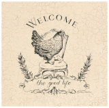 Good Life Chicken Posters by Marco Fabiano