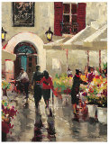 Rue de Fleurs Prints by Brent Heighton