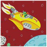 Rocket Ship Prints by  Sapna
