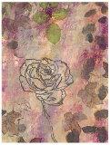 Rose Impressions II Print by Sara Abbott