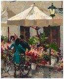 Flower Market Street Prints by Brent Heighton