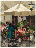 Flower Market Street Print by Brent Heighton