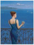Cerulean Romance I Art by Jill Schultz McGannon