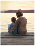 Mother and Son Time Print by James Wiens