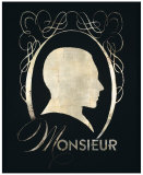 Monsieur Silhouette Affiche par Lisa Vincent