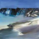 Eislandschaft III Kunstdrucke von Conny Rosskamp
