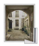 Marais Courtyard Metal Print by Milla White