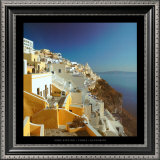 Thira - Santorini Print by Mike Kipling