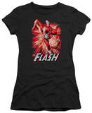 Juniors: Justice League America-Flash Red & Gray T-Shirt