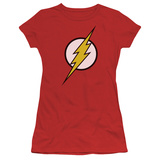 Juniors: Justice League America-Flash Logo T-shirts