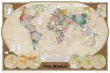 Wereldkaart - Vintage Affiches