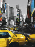 Rush Hour on Broadway Print by Henri Silberman