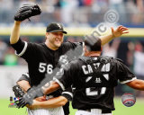 Mark Buehrle '09 Perfect Game celebration w/ Castro Photo