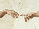 The Creation of Adam Kunstdrucke von  Michelangelo Buonarroti