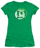 Juniors: Justice League America-Green Lantern Energy Logo T-shirts