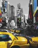 Rush Hour on Broadway Prints by Henri Silberman