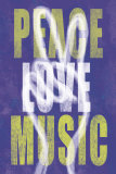 Peace, Love, Music Poster by Erin Clark