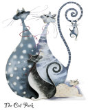 The Cat Pack Prints by Marilyn Robertson
