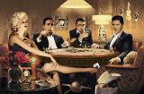 Quatre d'une sorte, jouant au poker Poster par Chris Consani