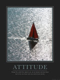 Actitud, navegando, en inglés Pósters