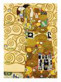 Fulfillment, Stoclet Frieze, c.1909 Posters av Gustav Klimt