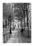 Escaliers a Montmartre, Paris Poster af Henri Silberman