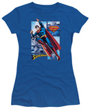 Juniors: Justice League America-Superman Panels T-Shirt