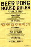 Beer Pong House Rules Posters
