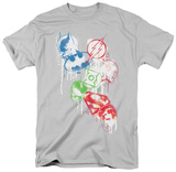 Justice League - Splatter Icons Shirt