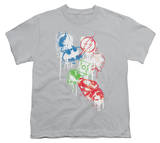 Youth: Justice League America - Splatter Icons T-Shirt