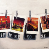 From NY To SF Prints by Vincent Gachaga