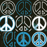 Peace Mantra (blue) Posters by Erin Clark