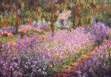 Le jardin de l'artiste à Giverny, vers 1900 Affiche par Claude Monet
