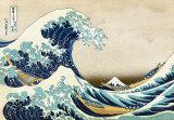 De grote golf van Kanagawa, uit de reeks: 36 uitzichten op de berg Fuji, ca.1829 Print van Katsushika Hokusai