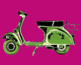 Vespa on Pink Prints by Myrjam Tell