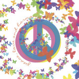Peace, Love and Harmony Poster von Erin Clark