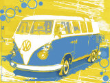 Vintage VW Bus Art by Michael Cheung
