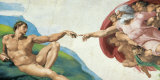 The Creation of Adam Kunstdruck von  Michelangelo Buonarroti