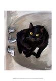 Black Cat Lookin' Posters van Robert Mcclintock
